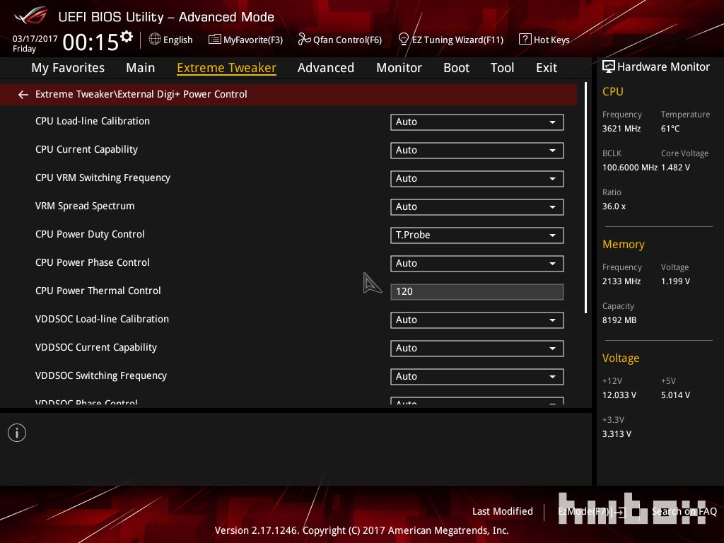 asus extra voltage setings